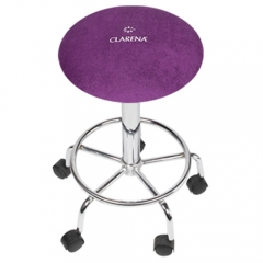 Clamanti - Clarena Terry Cloth Saddle Stool Cover BLACKBERRY Size L