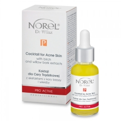 Clamanti - Norel Professional Pro Active Cocktail Acne Skin Birch and Willow Bark Extracts No Needle Mesotherapy and Sonophoresis 30ml
