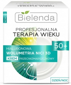Clamanti - Bielenda- Professional Age Therapy Hyaluronic 3D Thread Volumetry Day/Night Cream 50+