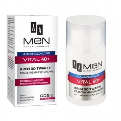 Clamanti - AA Men Advanced Care Vital 40+ Anti Wrinkle Hypoallergenic Face Cream 50ml