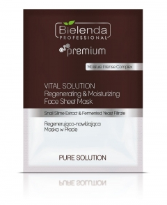 Clamanti - Bielenda Professional Vital Solution Regenerating and Moisturising Face Sheet Mask 25g