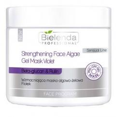 Clamanti - Bielenda Professional Strengthening Algae Peel Off Face Gel Mask Violet Beta Glucan Rutin 200g