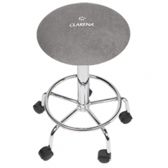 Clamanti - Clarena Terry Cloth Saddle Stool Cover STEEL Size L