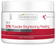 Clamanti - Bielenda Professional 3in1 30% Powder Brightening Peeling with Pure Vitamin C Citric Acid and Papain 100g