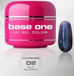 Clamanti - Silcare Base One UV Nail Gel Chameleon Blue Butterfly 5g