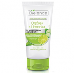 Clamanti - Bielenda Cucumber & Lime 3in1 Wash Gel Scrub Serum Anti-Shine Combination Skin