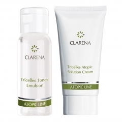 Clamanti - Clarena Travel Set Atopic Line Tricells Toner 30ml + Atopic Solution Cream 15 ml