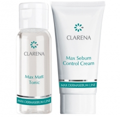Clamanti - Clarena Max Dermasebum Mini Travel Set  Matt Tonic 30ml + Max Sebum Control Cream 15ml