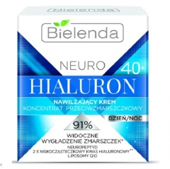 Clamanti - Bielenda Neuro Hialuron Moisturizing Anti Wrinkle Cream Concentrate 40+ Day Night 50ml