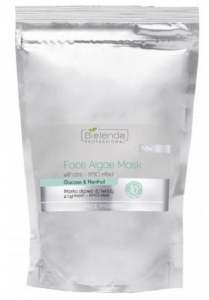 Clamanti - Bielenda Professional Algae Face Mask with Zinc- Krio Effect Glucose and Menthol 260g