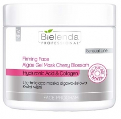 Clamanti - Bielenda Professional Firming Face Algae Mask Cherry Blossom Hyaluronic Acid and Collagen 200g