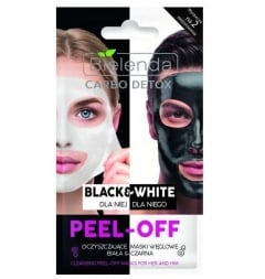 Clamanti - Bielenda Carbo Detox Black & White Cleansing Peel-Off Mask for Her & Him 2x6g