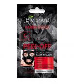 Clamanti - Bielenda Carbo Detox Peel Off  Purifying Charcoal Pink Grapefruit Mask 2x6g