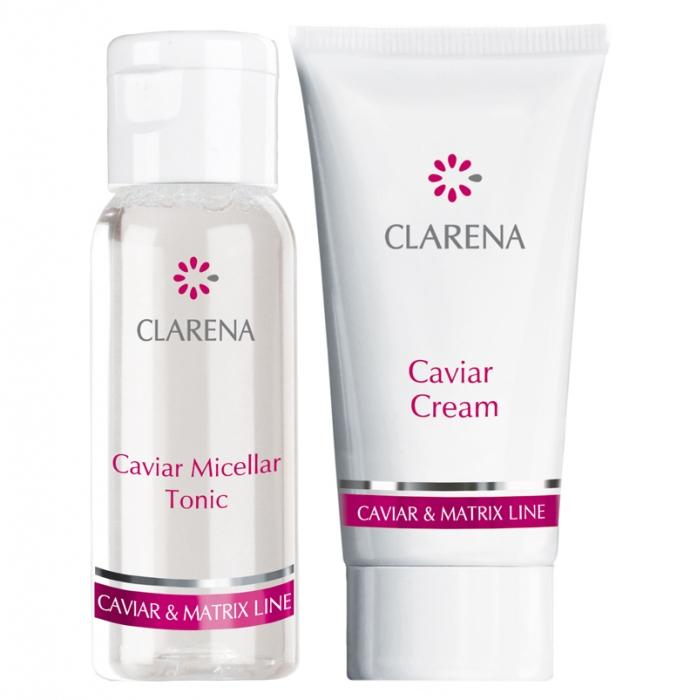 Clamanti - Clarena Caviar Travel Set  Anti Age Caviar Cream 15ml + Caviar Micellar Tonic 30ml