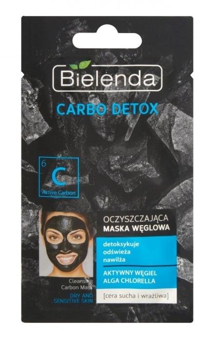 Clamanti - Bielenda Carbo Detox Cleansing Carbon Mask for Dry And Sensitive Skin Chlorella 8g