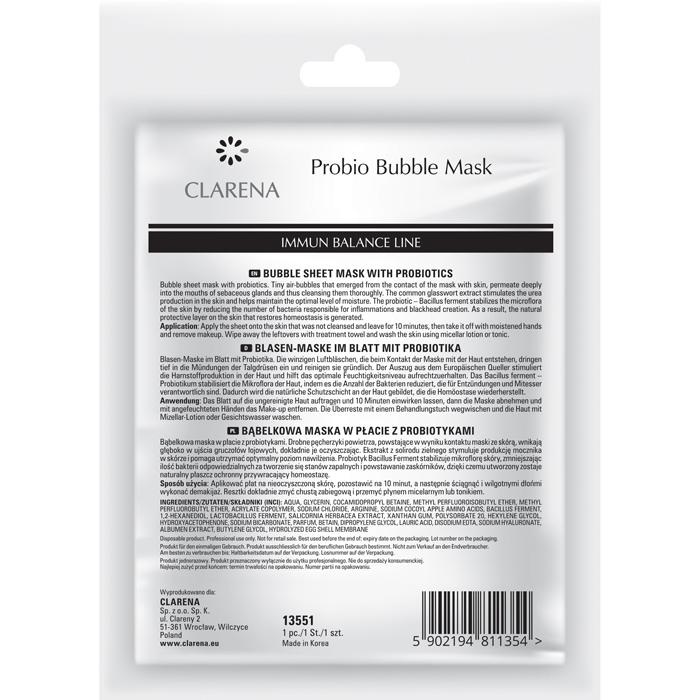 Clamanti - Clarena Immun Balance Line Probio Bubble Mask Reduces Blackheads1pc